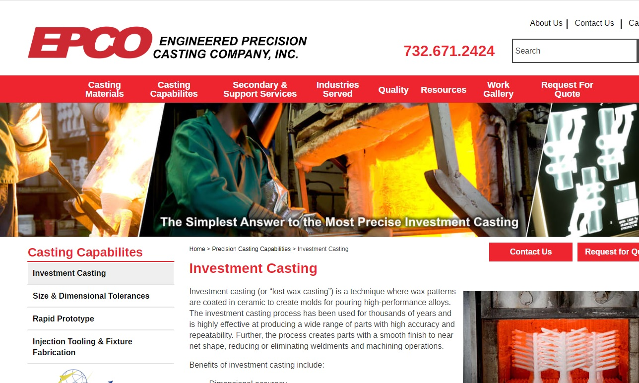 Engineered Precision Casting Company, Inc.
