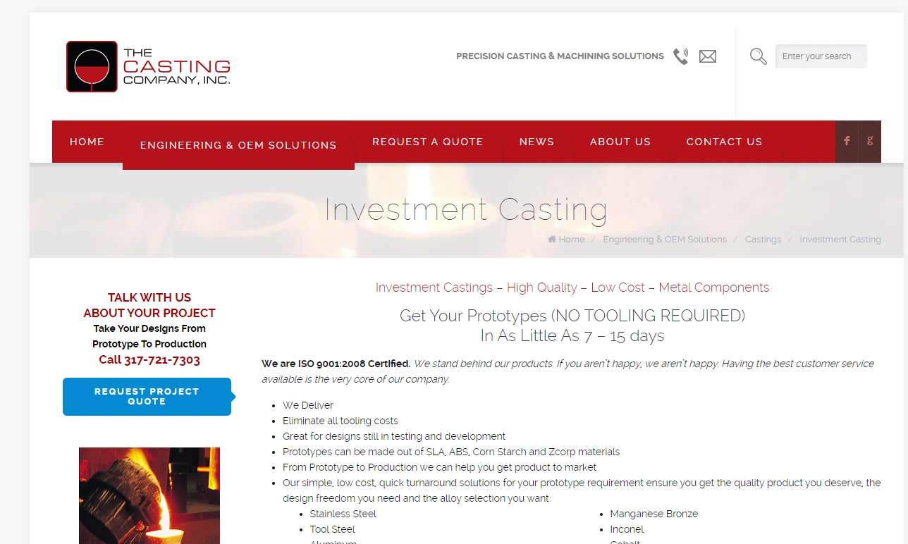 The Casting Company, Inc.